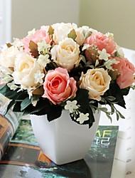 """Rosas 9.5 """"h estilo rurall europeu de simulação dos namorados nostálgico com praça vaso de cerâmica exposur"""
