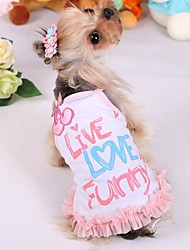 Dog Dress Pink / Yellow Summer Cosplay