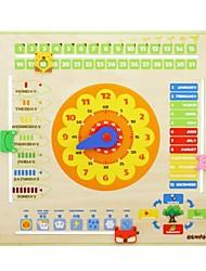 benho relógio calendário plywood brinquedo lógica bebê educação de madeira