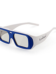 gafas 3D polarizadas rotatorios para el cine (color al azar)