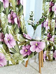 sala de jantar sudeste estilo ásia floresta deixa de impressão cortinas cortinas dois painéis