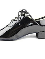 Non Customizable Kids' Dance Shoes Modern Chunky Heel Black(More Colors)