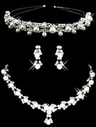 Schmuck-Set Damen Jubiläum / Hochzeit / Verlobung / Geburtstag / Geschenk / Besondere Anlässe Schmuck-Set LegierungKünstliche Perle /