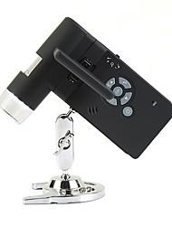 palmare microscopio 500x digitale professionale reale display da 3,5 '' a cristalli liquidi 5.0MP con 8 led usb sd card sh039 batteria al litio