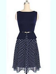R.O.Abby Women's European Dots Sleeveless Dress