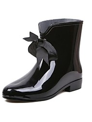 Women's Shoes PVC Low Heel Rain Boots Round Toe Ankle Boots Casual More Colors available