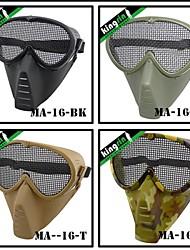 MA-16 Airsoft Wargame Half Face Army Skull Military Mask V3