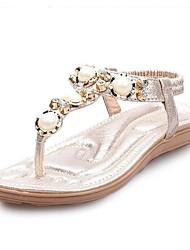 Women's Shoes  Flat Heel Slingback Sandals Dress Silver/Gold