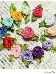 Mix All Colors 500Pieces Artificial Mini Silk Roses Heads Making Satin Ribbon,Diy Decoration Accessories,Scrapbooking