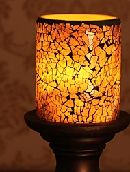 Home Impressions™ 3*4 Inch Purple Mosaic Glass with Flameless Led Candle with Timer,Work with 2 AA Batteries
