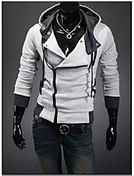 White Men's Fashion Thin Large Yard Hoodie Cardigan Coat