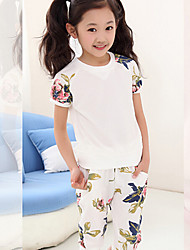 Girl's Summer Fashion Clothing Sets T-Shirts+Shorts 2015 New Arrival