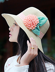 Women's Vintage/Cute/Casual Summer Flower Straw Straw Hat