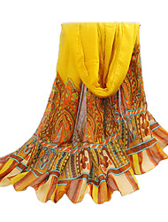 Women's Yellow Bali Yarn Oversized Beach Scarf