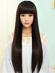 Japan and South Korea Long Straight Non-mainstream Critical Can Be Hot Rolled High Temperature Silk Face Fashion wig
