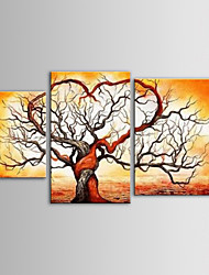 IARTS Oil Painting Modern Abstract Love Tree Canvas Art Set of 3 Hand Painted Canvas with Stretched Frame