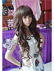 Angelaicos Women Brown Black Long Curly Daily Wear Natural Looking Charming Lolita Harajuku Party Girls Cute Hair Wigs