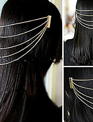 Tassel Assorted Color Alloy Hair Combs For Women