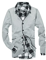 Men's Casual Pure knit Cardigan (Cotton/Polyester)