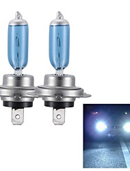 Merdia H7 55W Super White HID Xenon Halogen Bulb Headlight for Cars (DC 12V/ pair)