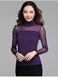 Women's Joker Round Collar Long Sleeve Shirts