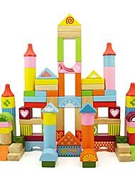 BENHO 100PCS Gorgeous Blocks Wooden Education Baby Building Toy