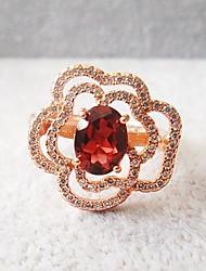 925 plaquage or rose 18 anneau d'améthyste or