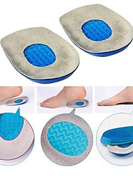 Gel Heel Cushion Massaging Heel Pads Cups Shock Absorbrion Shoes Inserts