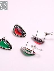 AS 925 Silver Jewelry Pear shaped earrings