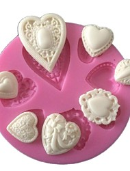 Heart Love Cake Mold Silicone Baking Tools Kitchen Accessories Decorations For Cakes Chocolates Molds Sugarcraft
