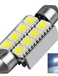 2.9W 12V 7000-8000K 39MM-5050-8SMD C5W with Radiator Canbus License Plate And Tail Box Lighting LED Light for Car