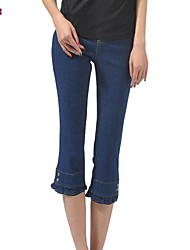 Women's Blue/Black Jeans Pants , Bodycon/Casual