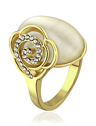 Gold Plated Ring Couple Rings/Statement Rings Wedding/Party/Daily/Casual 1pc