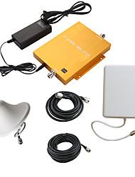 1800MHz dcs980 ouro móvel celular amplificador booster de sinal repetidor com painel e teto antenas