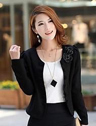 Women's Work  Flowers Short Long Sleeve Short Blazer