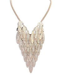 Women's Alloy Fashion Trend Personality Wild Leaves Necklace