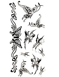 1pc New Waterproof Temporary Tattoos Back/Wrist/Neck Tattoos Butterfly Jewelry Collections Body Tattoos(18.5*8.5cm)