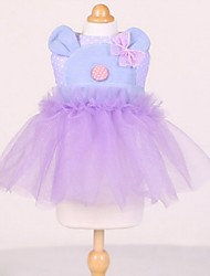 Lovely Cowboy Bear Princess Wedding Tutu Dresses for Pets Dogs (Assorted  Sizes)