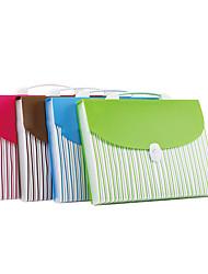 Brown A4 Portable School Paper Folder Bag