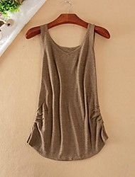 Women's New Casual Sleeveless Vest (Cotton Blends)