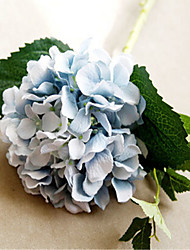 six hygrangeas bleu artificiel fleurs