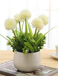 hyfrangeas brancas artificiais flores com vaso