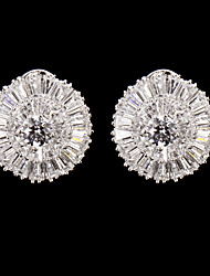 Stud Earrings Women's Cubic Zirconia/Alloy Earring