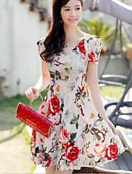 Women's Print Dress,Print