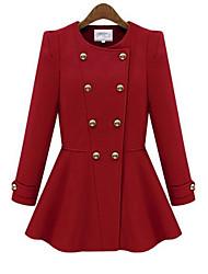 O  M  G  Women's European Fashion Tweed Coat