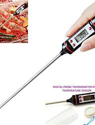 """0.9 """"LCD termometro di carne alimentare tacchino bbq cucina ristorazione sonda cottura digitale a caldo (-50 ~ 300'c / 1 * LR44)"""