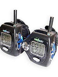 22 Channels Wrist Watch Style A Pair Walkie Talkie with Big Backlight LCD Screen