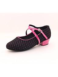 Women's/Kids' Dance Shoes Latin  Flat Heel Black