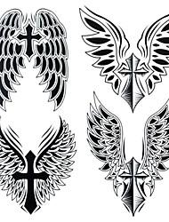 Outros - Yimei - Tatuagem Adesiva - Tamanho Grande/Waterproof - para Feminino/Masculino/Adulto/Adolescente - de Papel - Preta - 25cm*21.5cm 1