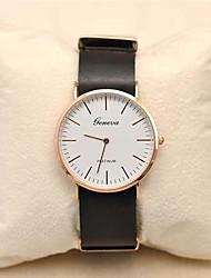 Men's  Leather Circular Quartz Qatch High Quality Japanese Quartz Movement Watches (Assorted Colors)